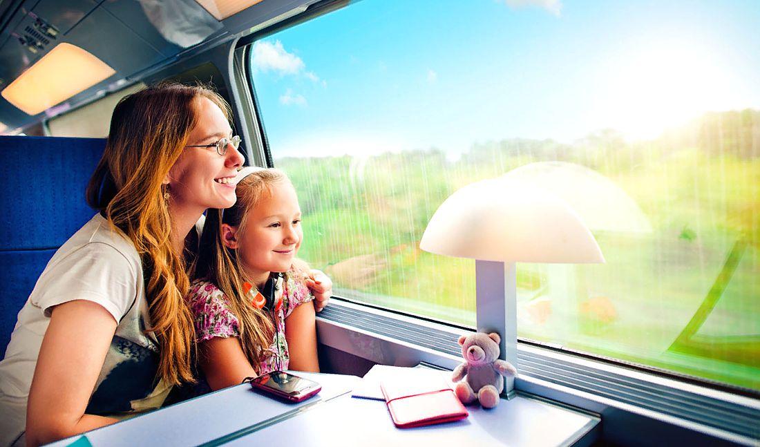 Как путешествовать с детьми на поезде?