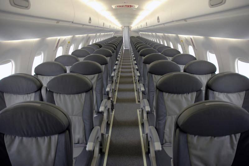 В салоне лайнера Fokker-100 авиакомпании Фотография : фото 570 Montenegro Airlines.