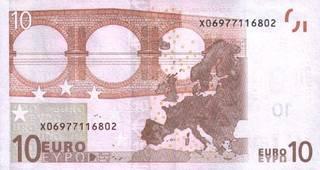 10 евро - оборотная сторона