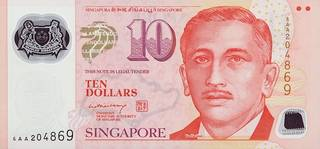10 Singapore dollars