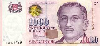 1000 Singapore dollars