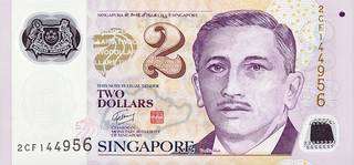 2 Singapore dollar