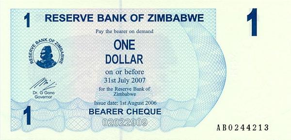 Курс зимбабвийский доллар