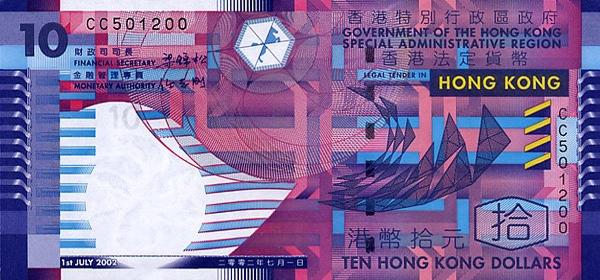 Курсы валют гонконгский доллар