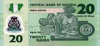 20 нигерийских найр - оборотная сторона