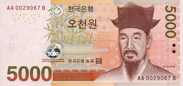 Курс корейской воны к евро