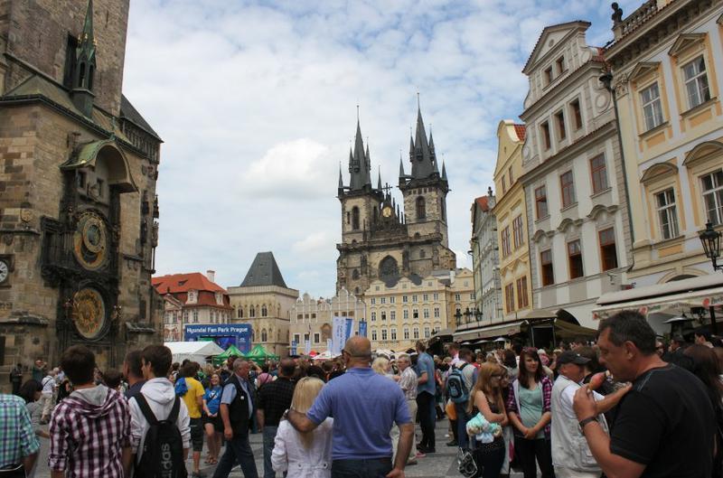 Русские туристы в чехии