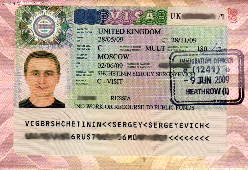 англия виза требования к фото