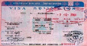 Израильская виза откладывается для отечественных путешественников 20 октября с 00 часов 01 секунды