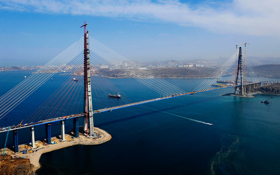 мост остров русский фото
