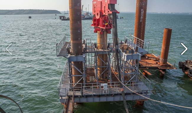 При строительстве Керченского моста выполнены работы насумму свыше 35 млрд руб.