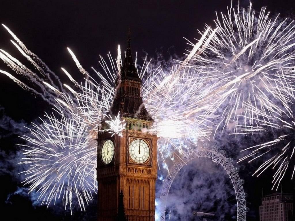 новый год великобритании рисовать