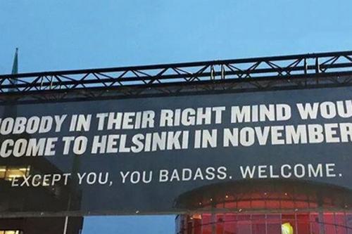 Вот это туризм. Финский аэропорт ошарашил приезжих откровенным плакатом