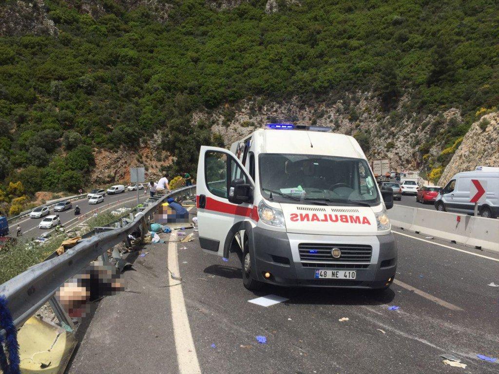 Автобус сроссийскими туристами перевернулся вТурции