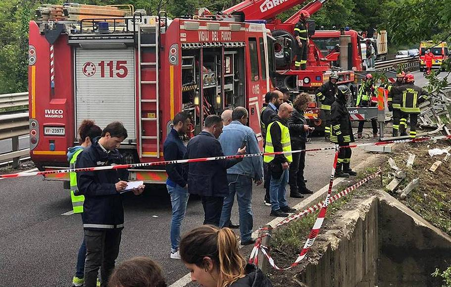 В аварии в Италии пострадали 60 туристов предположительно россиян