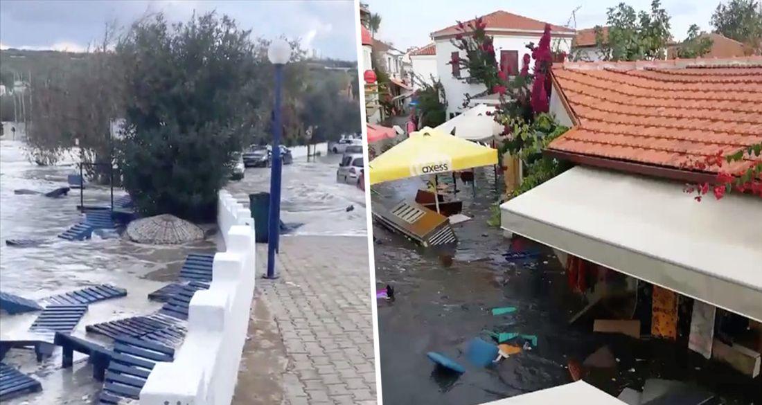 Цунами накрыло Измир: улицы затопило на 1 метр. ВИДЕО