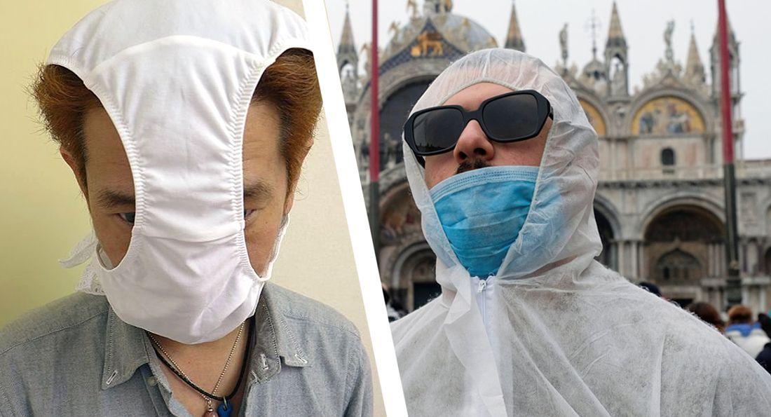 В знак протеста вместо масок итальянцы надевают трусы: в пандемию перестают верить