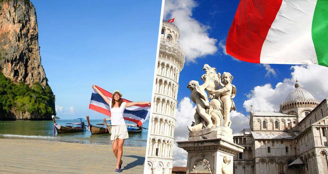Италия и Таиланд - самые вожделенные для отдыха страны у российских туристов