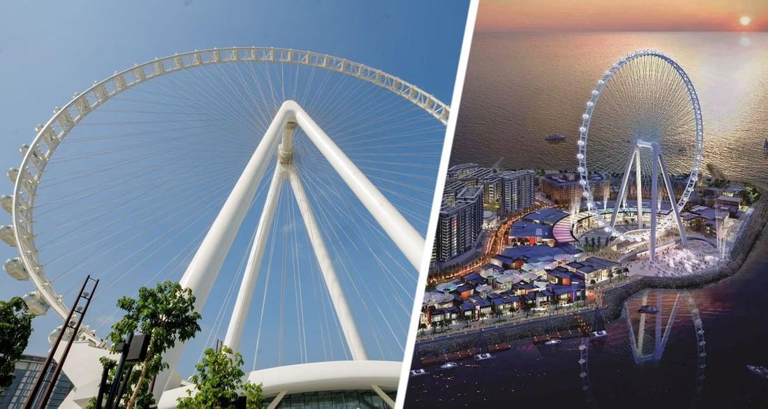 В Дубае для туристов открылось самое большое в мире колесо обозрения