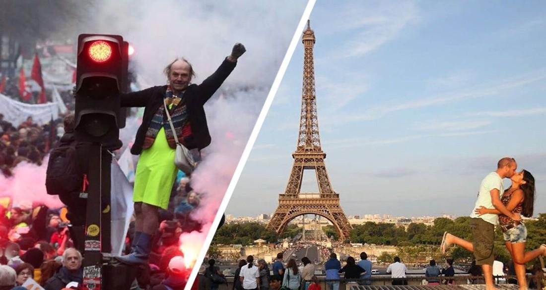 Перед Эйфелевой башней туристы начали сдавать анализы: выстроилась гигантская очередь, начались протесты